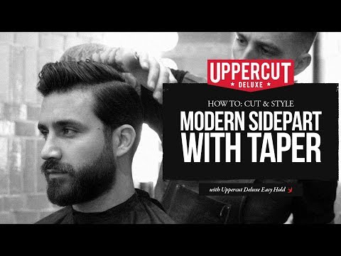 Haircut Tutorial: How To Cut and Style Modern Side Part with Taper | Uppercut Deluxe | Easy Hold
