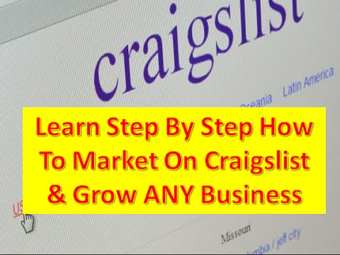 [Must See] Posting Ads Online  For A Craigslist Marketing Strategy 2014