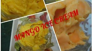 Mango Ice Cream Receipe - Easy Ice Cream - Homemade Ice Cream - NO ice Cream Maker - Eggless