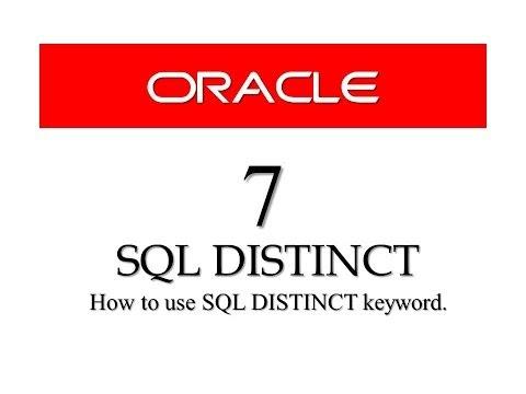 Oracle Database11g tutorials 7 | |SQL DISTINCT keyword || SQL tutorials