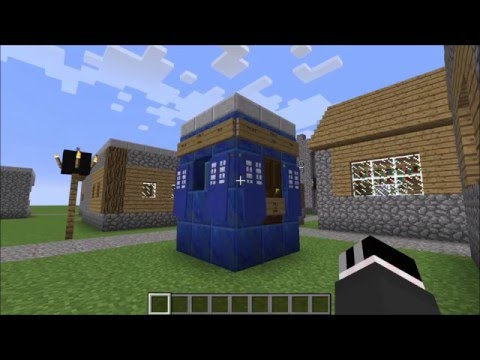 The Tardis in Minecraft w/ different consoles, no mods, dematerialization effect