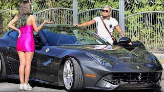 See What She Did when She Saw He has a Ferrari!