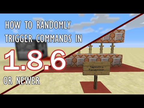 HOW TO RANDOMLY TRIGGER COMMANDS | Minecraft 1.8.8 Tutorial