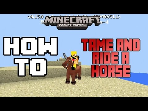 HOW TO TAME AND RIDE A HORSE IN MCPE 0.15.0 |Minecraft PE (MCPE) How To #27
