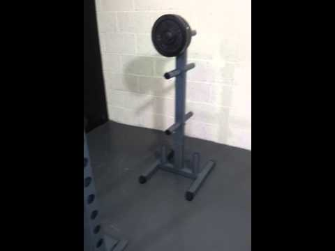 The ALEC home multi gym weight plate tree