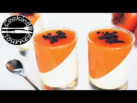 Panna cotta dessert - Persimmon panna cotta