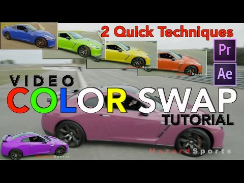 How to Change Color in video - Tutorial using Adobe Premiere CC & After Effects CC