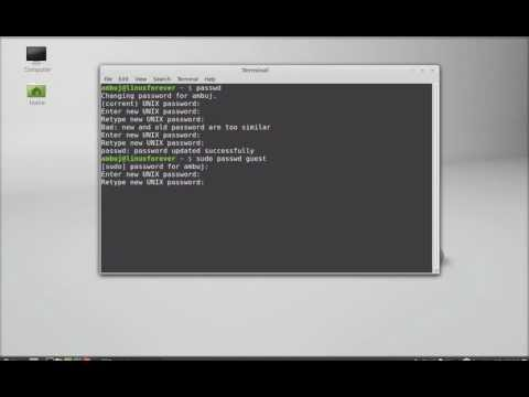 Change Password in Linux Mint through Command Line