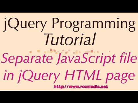 Separate JavaScript file in jQuery HTML page