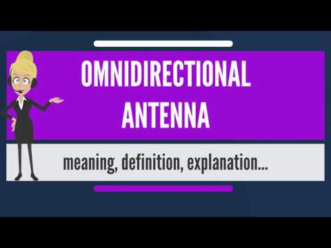 What is OMNIDIRECTIONAL ANTENNA? What does OMNIDIRECTIONAL ANTENNA mean?