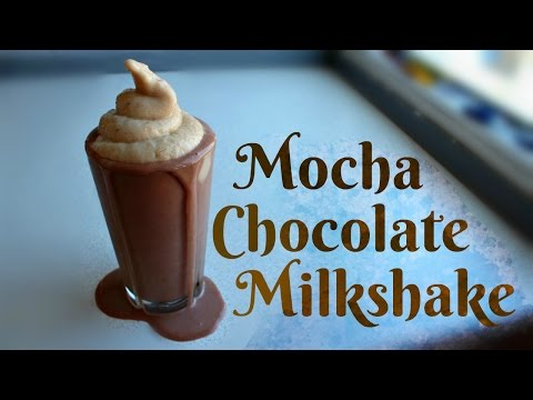 Vegan Low Fat Mocha Chocolate Milkshake