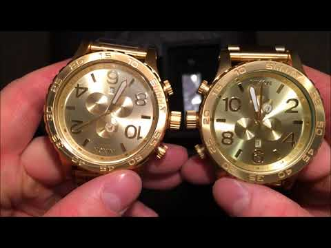 Authentic VS Fake Nixon 51-30 All Gold. If you're salty, don't watch ;D