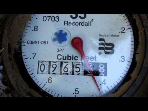 Reading Your Water Meter to check for water leaks.mov