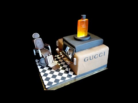 GUCCI & BARBERSHOP CAKE - Lyona Cakes - Geneva