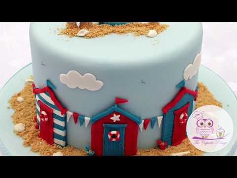 Beach Hut Cake Decorating Tutorial   Seaside Moulds Collection