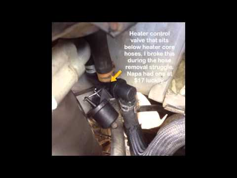 Heater Core Replacement 2002 Chevy Express Van