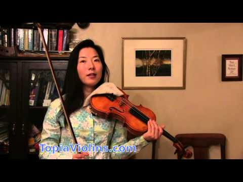 Beginner Violin: slurs with the bow