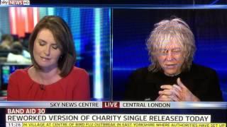 Sir Bob Geldof just gave the best answer live on Sky News. TWICE!