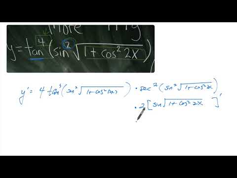 Long Chain Rule with Trig Functions