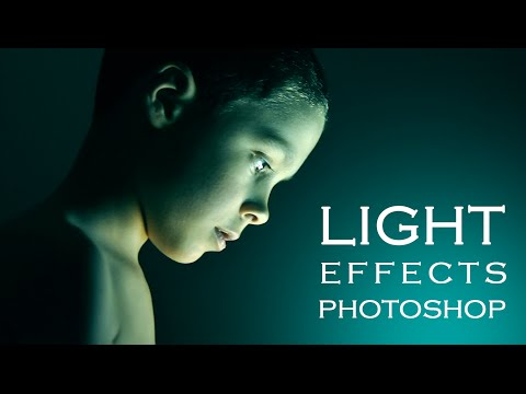 Photoshop Tutorial | How to get special light Photo Effects on Portraits
