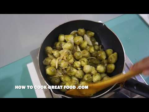 Brussell Sprouts - Pan Fried Garlic Recipe