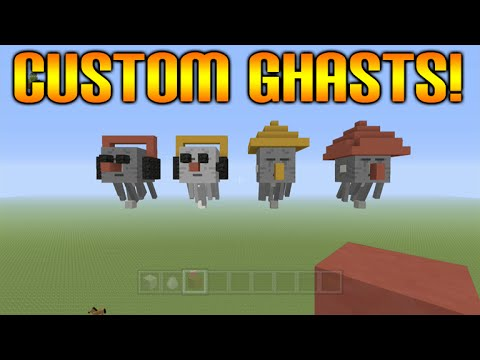 ★Minecraft Xbox 360 + PS3: How To Create Your Own Custom Ghast Cool Designs Tutorial★