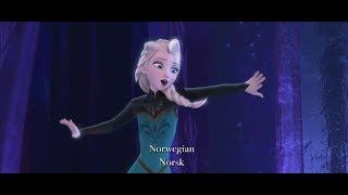 "Disney's Frozen - ""Let It Go"" Multi-Language Full Sequence"