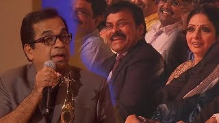 Megastar Chiranjeevi Enjoying Brahmanandam's Speech