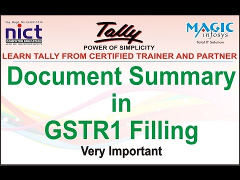 IMPORTANT OF DOCUMENT SUMMARY DETAILS IN GSTR1 FILLING || NICT
