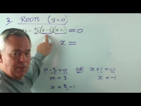 How to Find the x-Intercepts (Roots or Zeros) of a Quadratic Equation (Introduction)