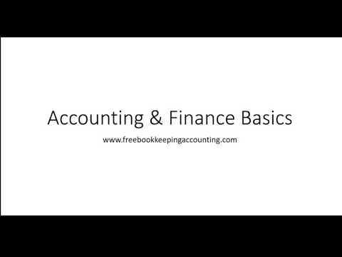 Finance & Accounting Basics