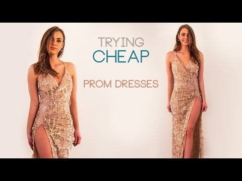 TRYING ON CHEAP PROM DRESSES | FROM EBAY, AMAZON & SHEIN
