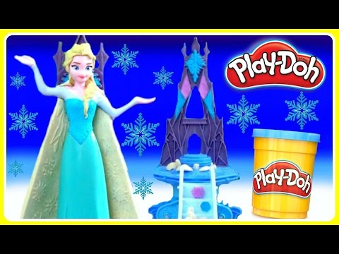 Play Doh Frozen Enchanted Ice Palace! NEW PLAY DOH! Disney Frozen Play Doh Ice Palace with Queen Els