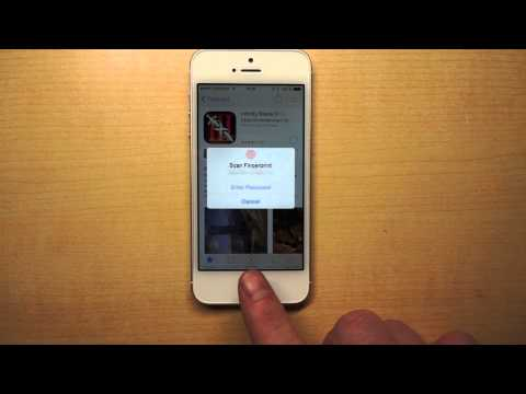 Buying from AppStore with fingerprints on iPhone 5S