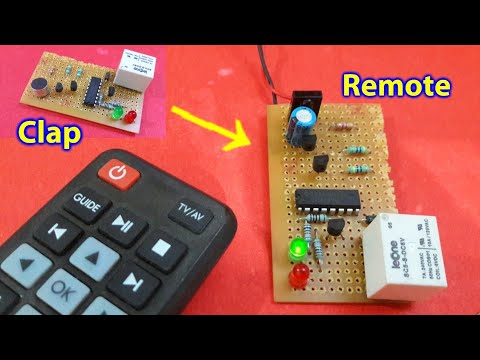 Clap switch circuit Convert to Remote control switch