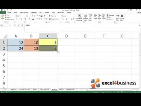How to Subtract Numbers in Excel