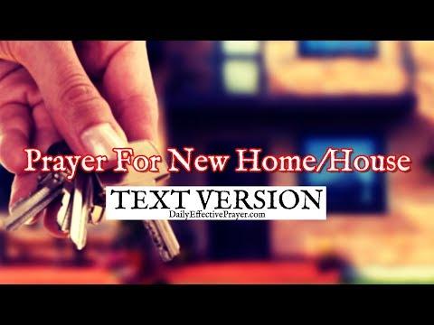 Prayer For New Home/House (Text Version - No Sound)