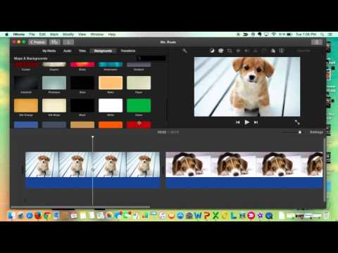 Adding Backgrounds in iMovie
