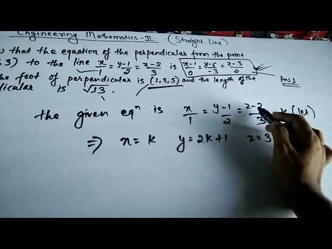 Straight line equation and point of perpendicular | Engineering Mathematics