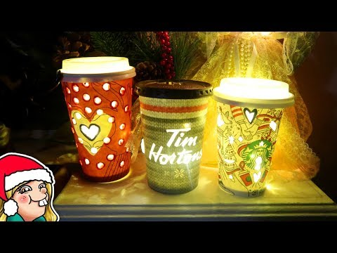 DIY Holiday Coffee Cup Christmas Decorations 🎄Arty Advent Day 4🎄