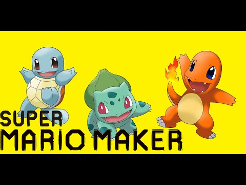 Pokemon Red/Blue/Yellow's Bulbasaur/Charmander/Squirtle in Super Mario Maker (All Animations/Sounds)