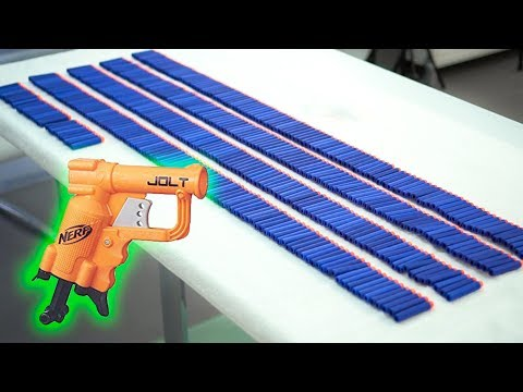 SHOOTING 430 NERF DARTS AS FAST AS POSSIBLE WITH A JOLT | 772K SUBSCRIBERS!