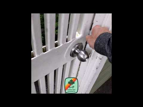 Unlock a door with a credit card or gift card