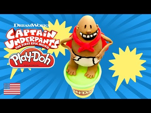 Captain Underpants Toy Trailer The first Epic Movie Play Doh Claymation Full How to Make the  Movie