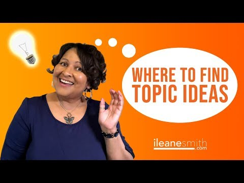 Find Great Topic Ideas