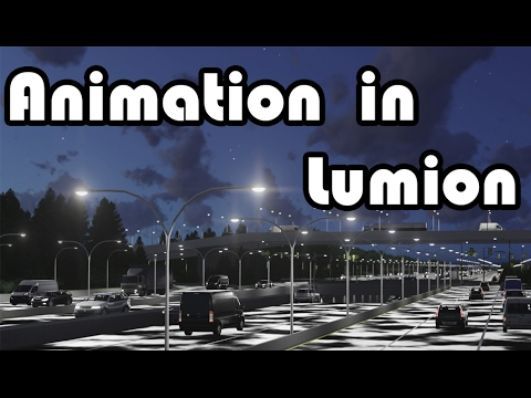 Lumion: Overpass traffic. Animating a Lumion object.