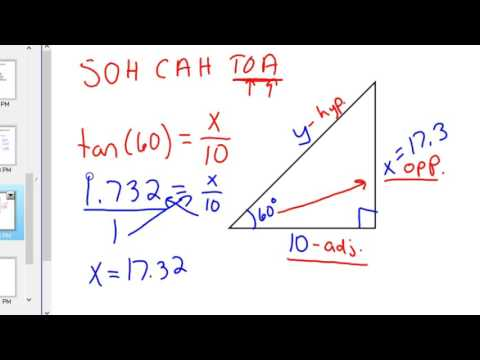 How to use sine cosine and tangent SOH CAH TOA