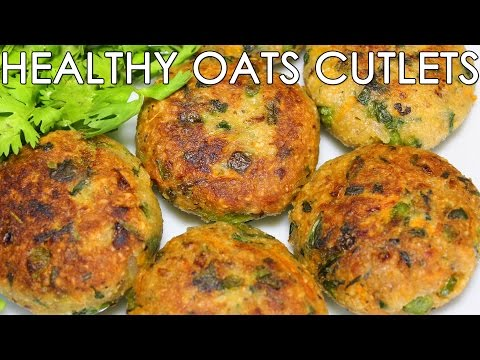 Healthy Oats & Mixed Vegetable Cutlets | Delicious Indian Snacks Recipe | Kanak's Kitchen