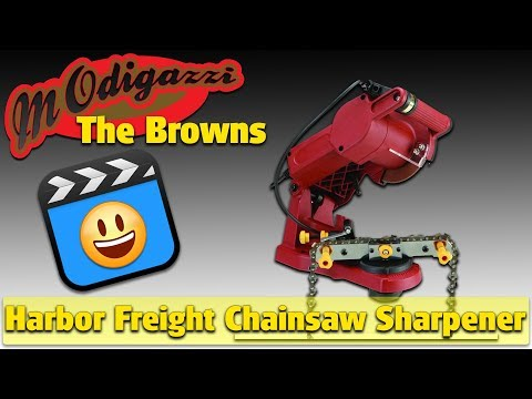 Cheap Harbor Freight Electric Chainsaw Sharpener 4.4 stars Clear Trees from the Urban Homestead