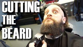 CUTTING THE VIKING BEARD & MAN BUN HAIR | STYLING TOP KNOT